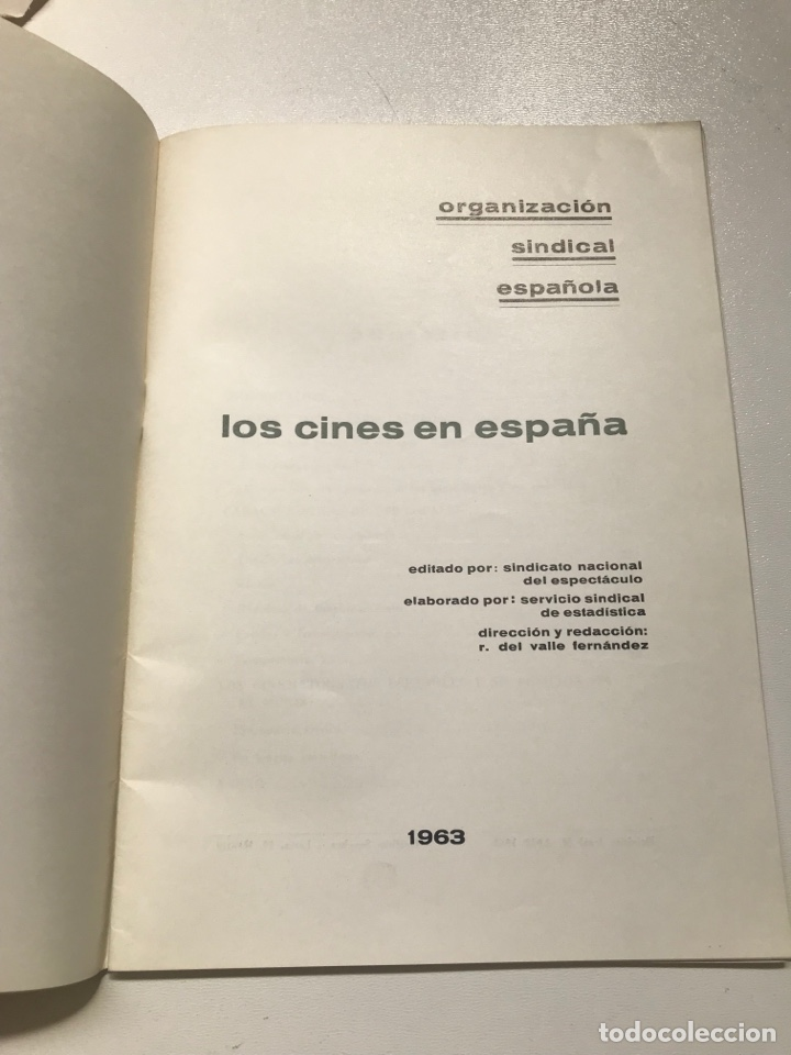 Libros de segunda mano: Los cines en España.Sindicato nacional del espectáculo Ref I - Foto 2 - 278209263