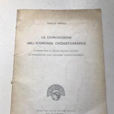 Libros de segunda mano: PAOLO BAFILE LA CO-PRODUZIONE NELL'ECONOMIA CINEMATOGRÁFICA REF I. Lote 278209488