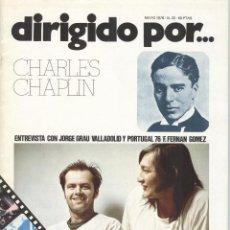 Libros de segunda mano: DIRIGIDO POR Nº 33: CHARLES CHAPLIN. Lote 288903923