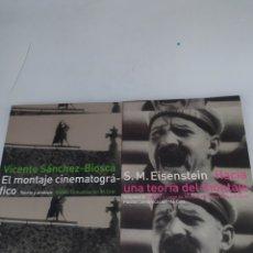 Libros de segunda mano: EL MONTAJE CINEMATOGRÁFICO. VICENTE SÁNCHEZ-BIOSCA Y HACÍA UNA TEORÍA DEL MONTAJE .S.M.EISENSTEIN. Lote 290080478