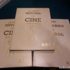 Libros de segunda mano: LA GRAN HISTORIA DEL CINE + CINE MODERNO Y ESPAÑOL - 3 TOMOS - TERENCI MOIX - ABC. Lote 297182593