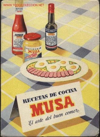 RECETAS DE COCINA MUSA. EL ARTE DEL BUEN COMER. AÑOS 50? COCINA, GASTRONOMÍA (Libros de Segunda Mano - Cocina y Gastronomía)