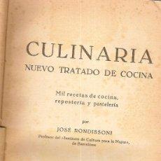 Libros de segunda mano: CULINARIA.MIL RECETAS DE COCINA / J. RONDISSONI. BARCELONA : BOSCH, [ 1945 ]. . Lote 27012809