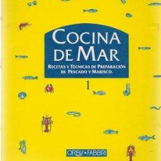 Libros de segunda mano: COCINA DE MAR: RECETAS Y TÉCNICAS DE PREPARACIÓN DE PESCADO Y MARISCO - 6 ARCHIVADORES * COMPLETO *. Lote 208578288