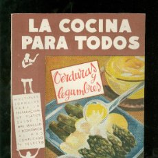 Libros de segunda mano: LA COCINA PARA TODOS. VERDURAS Y LEGUMBRES. 64 PAG. AMELLER.. Lote 17514129