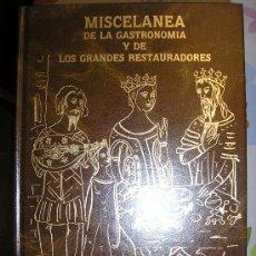 Libros de segunda mano: MISCELANEA DE LA GASTRONOIMA Y DE LO SGRANDES RESTAURADORES--.M. CARBAJO. Lote 26551601