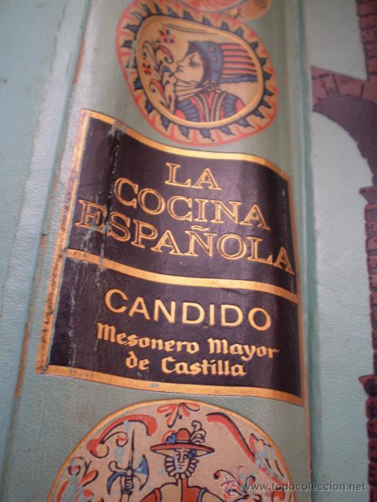 * PRIMERA EDICION 1970.LA COCINA ESPAÑOLA DE CANDIDO MESONERO MAYOR DE CASTILLA (Libros de Segunda Mano - Cocina y Gastronomía)
