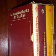 Libros de segunda mano: LA REVOLUCIÓN DIETÉTICA DEL DR. ATKINS (3T EN ESTUCHE) POR ROBERT ATKINS DE PLANETA EN 1976 3ª ED.. Lote 25740513
