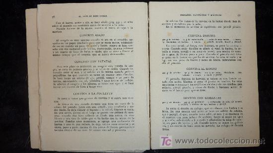 Libros de segunda mano: Libro el arte de bien comer. 1958. Recetas de cocina antiguas. - Foto 5 - 25449174