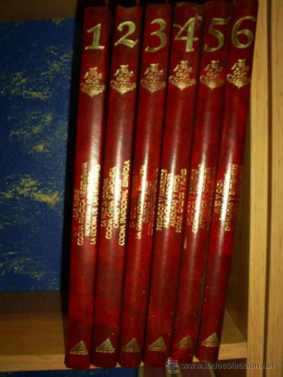 EL ARTE DE LA COCINA 6 TOMOS RUEDA 1987 RM39074 (Libros de Segunda Mano - Cocina y Gastronomía)