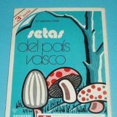 Libros de segunda mano: SETAS DEL PAIS VASCO. 3ª SERIE. LÁMINA 55 A 90 (AMBAS INCLUSIVE). 21 X 15 CM. A TODO COLOR. Lote 24164798