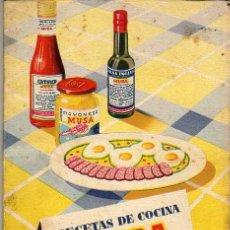 Libros de segunda mano: RECETAS DE COCINA MUSA - EL ARTE DE COMER. Lote 23856244