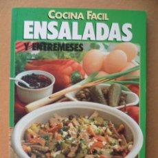 Libros de segunda mano: COCINA FACIL ENSALADAS Y ENTREMESES, 1992. Lote 25607274