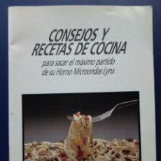 Libros de segunda mano: CONSEJOS Y RECETAS DE COCINA - MICROONDAS - LYNX. Lote 25890414