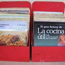 Libros de segunda mano: LOTE DE FICHAS DE COCINA.AÑOS 1981. GRAN FICHERO DE LA COCINA UTIL. Lote 27220131