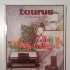 Libros de segunda mano: TAURUS RECETAS DE COCINA. Lote 27470818