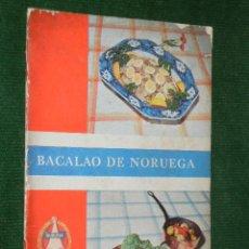 Livros em segunda mão: BACALAO DE NORUEGA, PUBLICADO ASOCIACION DE EXPORTADORES DE BACALAO DE NORUEGA. Lote 29119918
