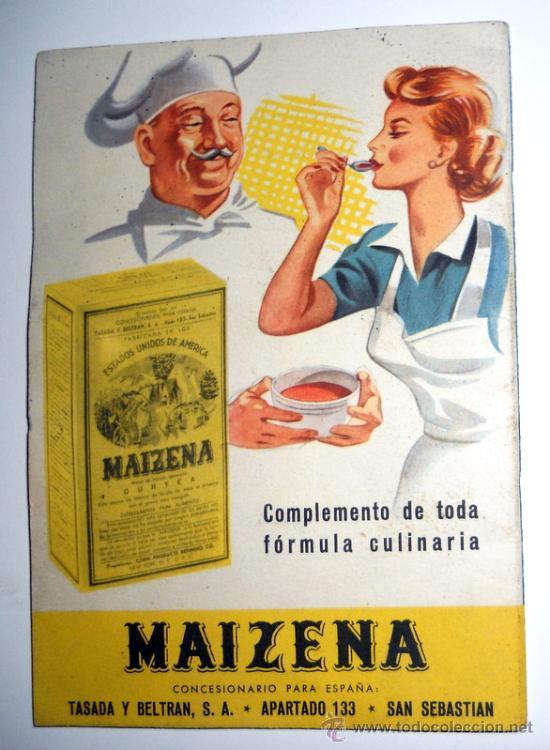Recetario publicidad maizena antiguo vintage comprar for Compro cocina de segunda mano