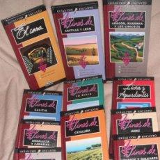Libros de segunda mano: VINOS DE ESPAÑA - GUIAS CON ENCANTO EL PAIS AGUILAR - EDICION 1996 - 11 TOMOS. Lote 34068358
