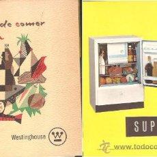 Libros de segunda mano: UN NUEVO ARTE DE COMER - RECETARIO CATÁLOGO WESTINGHOUSE, AÑO 1961. Lote 34187912