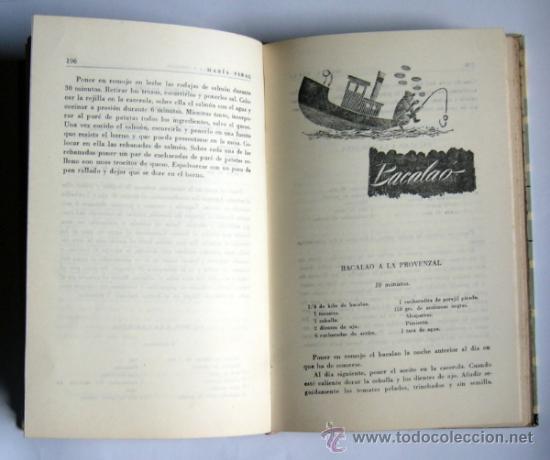 Libros de segunda mano: LA COCINA CON OLLA A PRESION - MARIA VIDAL - EDICIONES GINER.1957. - Foto 5 - 34176909