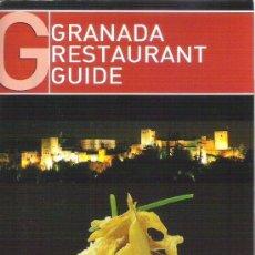 Libros de segunda mano: GUIA DE BOLSILLO - RESTAURANTES DE GRANADA Y PROVINCIA - ACTUALIZADA AÑO 2013. Lote 35568526