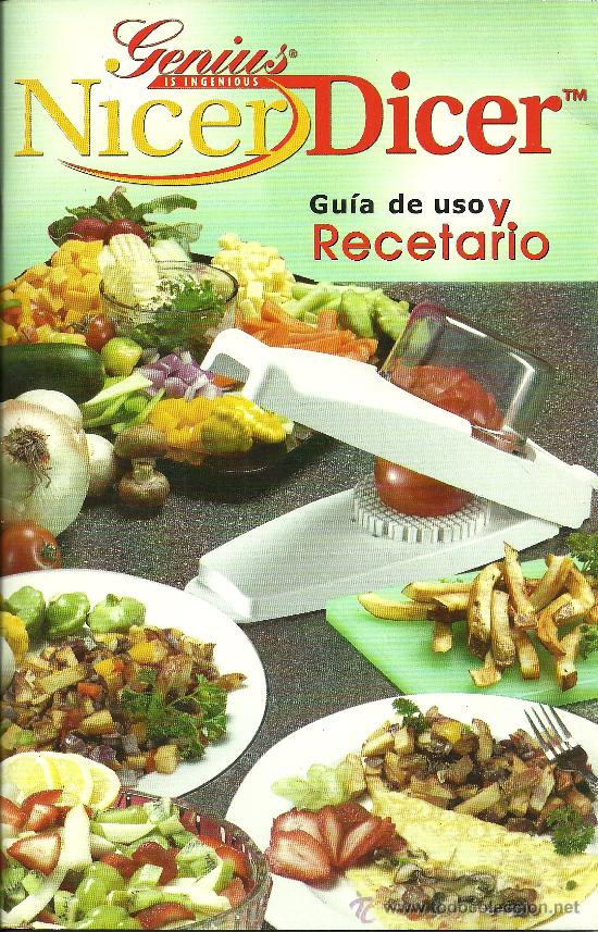 Nicer dicer gu a de uso y recetario espa ol comprar for Libros de cocina molecular pdf gratis