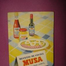 Libros de segunda mano: ANTIGUO LIBRO RECETAS DE COCINA ** MUSA ** DE MORENO S.A. CORDOBA EL ARTE DEL BUEN COMER DE 1950S.. Lote 38088947