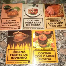 Libri di seconda mano: - MUCHO GUSTO 5 LIBROS RECETAS: COCINA ECONOMICA -FIESTA -INVIERNO - 1 VEZ DIA - CARNE PICADA S. Lote 38647617