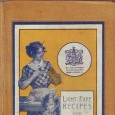 Libros de segunda mano: LIGHT FARE RECIPES FOR CORN FLOUR AND RAISLEY COOKERY.. Lote 38911814