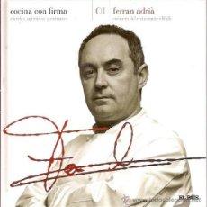 Libros de segunda mano: COCINA CON FIRMA COCTELES APERITIVOS ENTRANTES 01 FERRAN ADRIA COCINERO RESTAURANTE ELBULLI EL PAIS. Lote 39015419