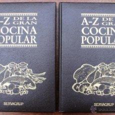 Libros de segunda mano: A – Z DE LA GRAN COCINA POPULAR – COMPLETO 2 TOMOS A ESTRENAR – RECOPILACION TRADICIONALES RECETAS. Lote 40001790