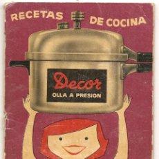 Libros de segunda mano: RECETAS DE COCINA DECOR OLLA A PRESIÓN. Lote 40187180