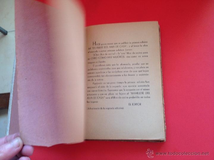 Libros de segunda mano: RAMILLETE DEL AMA DE CASA NIEVES - Foto 6 - 40345110