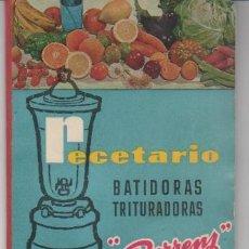 Livres d'occasion: 2 LIBROS DE COCINA: UNO RECETAS PARA BATIDORAS ( BERRENS ) Y OTRO MANUAL OLLA PRESIÓN LASTER. Lote 40478084