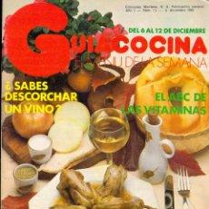 Libros de segunda mano: GUÍA COCINA EL MENÚ DE LA SEMANA - EDICIONES MONTENA - AÑO I Nº 13 - DICIEMBRE 1982. Lote 42259312