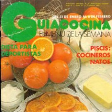 Libros de segunda mano: GUÍA COCINA EL MENÚ DE LA SEMANA - EDICIONES MONTENA - AÑO II Nº 21 - DICIEMBRE 1982. Lote 42381576