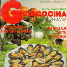 Libros de segunda mano: GUÍA COCINA EL MENÚ DE LA SEMANA - EDICIONES MONTENA - AÑO II Nº 22 - FEBRERO 1983. Lote 42381612