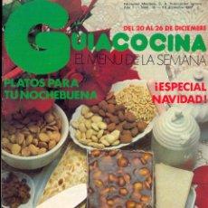Libros de segunda mano: GUÍA COCINA EL MENÚ DE LA SEMANA - EDICIONES MONTENA - AÑO I Nº 15 - DICIEMBRE 1983. Lote 42381659