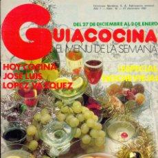 Libros de segunda mano: GUÍA COCINA EL MENÚ DE LA SEMANA - EDICIONES MONTENA - AÑO II Nº16 - DICIEMBRE 1982. Lote 42381880