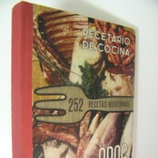 Libros de segunda mano: RECETARIO DE COCINA 252 RECETAS MODERNAS,1968,ODAG ED,REF COCINA D10. Lote 42659821