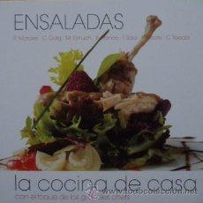 Libros de segunda mano: ENSALADAS: LA COCINA DE CASA CON EL TOQUE DE LOS GRANDES CHEFS. Lote 179160886