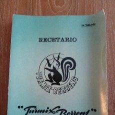 Libros de segunda mano: RECETARIO TURMIX BERRENS - 22ª EDICIÓN.. Lote 43739715
