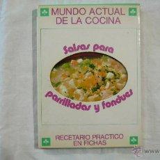Libros de segunda mano - MUNDO ACTUAL DE LA COCINA N.º 10 - SALSAS PARA PARRILLADAS Y FONDUES - ARNE KRÜGER - 1977 - 43812902