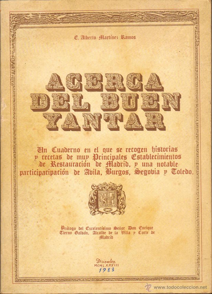 ACERCA DEL BUEN YANTAR (Libros de Segunda Mano - Cocina y Gastronomía)