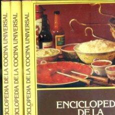 Libros de segunda mano: ENCICLOPEDIA DE COCINA UNIVERSAL - TRES TOMOS (AMERIS, 1980). Lote 44987381