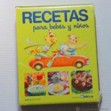 Libros de segunda mano: COLECCION COMPLETA RECETAS PARA BEBES Y NIÑOS SFERA EDITORES 2011. Lote 194896296