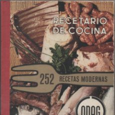 Libros de segunda mano: RECETARIO DE COCINA. 252 RECETAS MODERNAS.. Lote 45744718