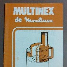 Libros de segunda mano: MULTINEX DE MOULINEX. RECETAS. JORDI BUSQUETS. AÑOS 80. SALSAS, SOPAS, ENTRANTES, ETC. RAREZA!!. Lote 46301523