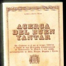 Libros de segunda mano - ACERCA DEL BUEN YANTAR A-COCINA-605 - 48349839